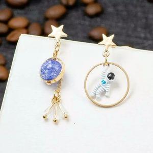 Betsey Johnson space/astronaut earrings